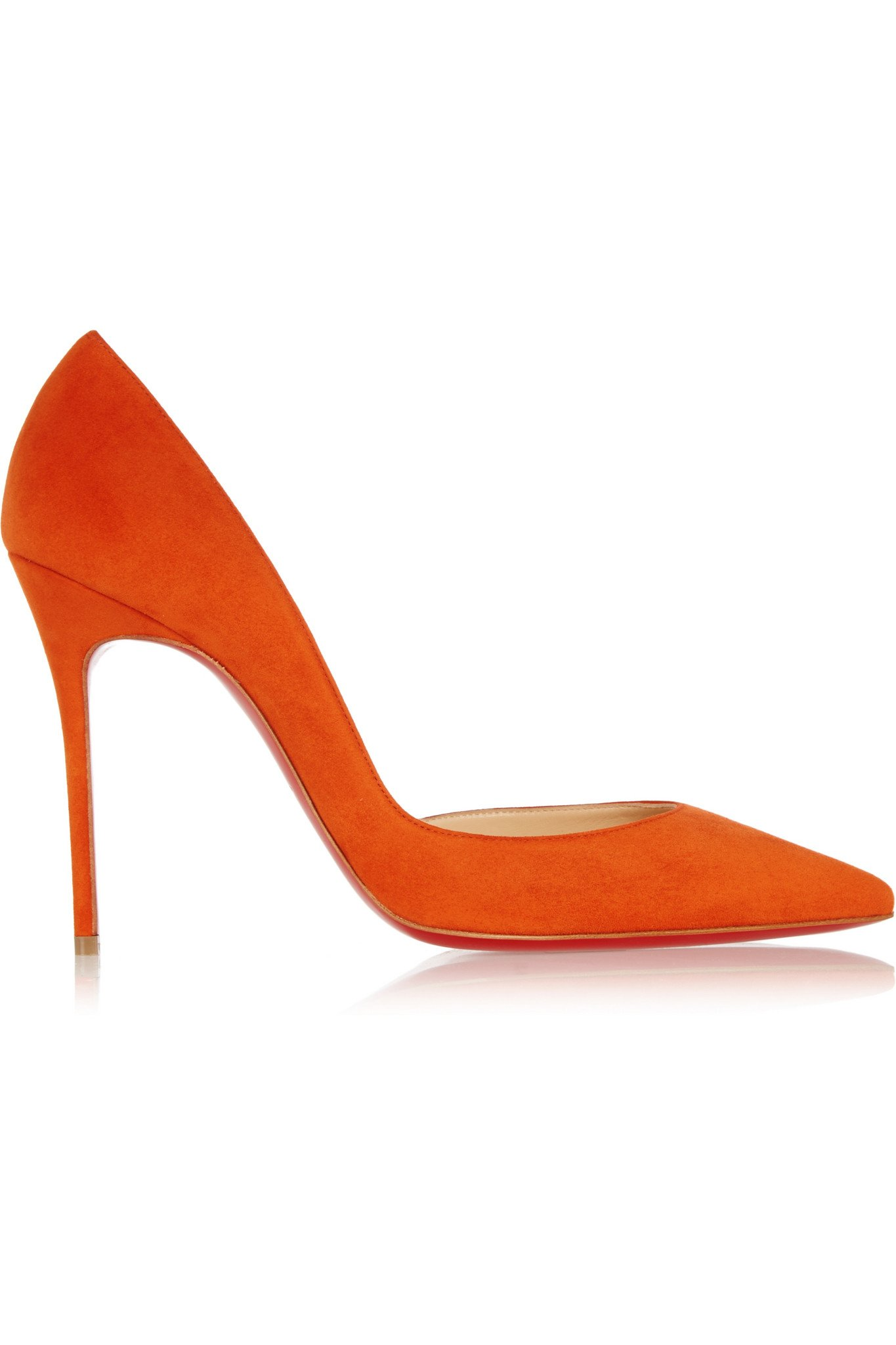 finest selection 9005e bb4ae Christian Louboutin Iriza 100 Suede Pumps in Orange - Lyst