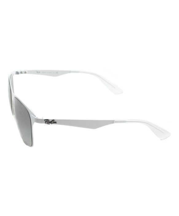 d76e8020bf8 Ray-Ban Rb 3521 163 11 Matte White Metal Sunglasses in Metallic - Lyst