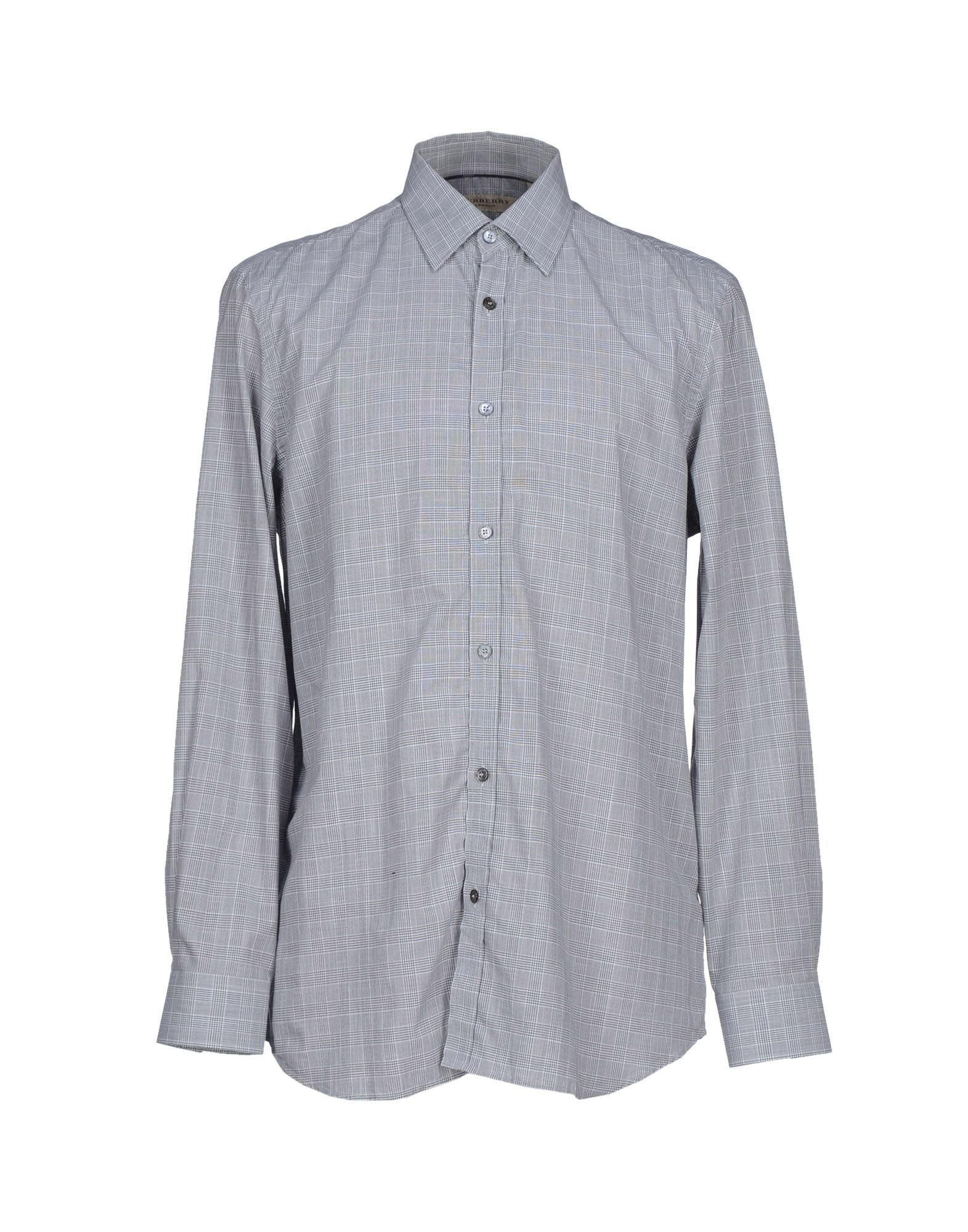 Lyst Burberry Shirt In Gray For Men