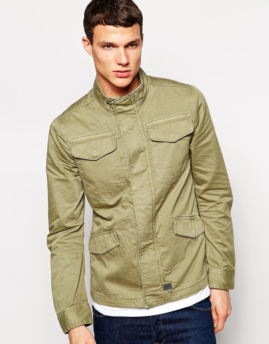 G-Star RAW G Star Overshirt Jacket Tamson Field Overdye in ...