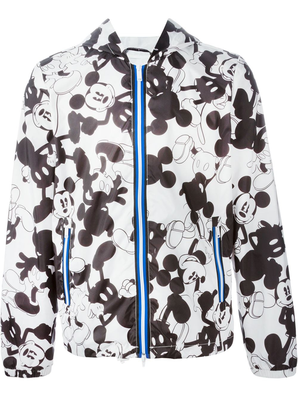 Lyst Iceberg Mickey Mouse Print Hooded Jacket In Black
