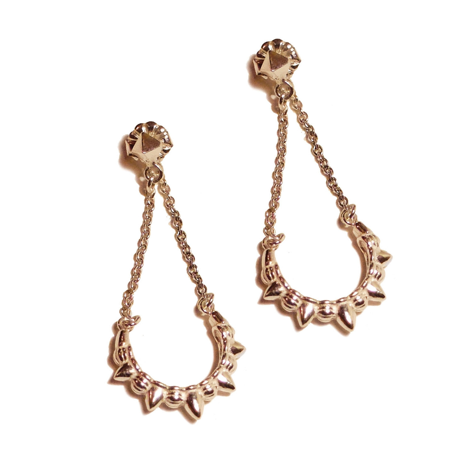 Pamela love gold tribal chain earrings lyst for Pamela love jewelry designer
