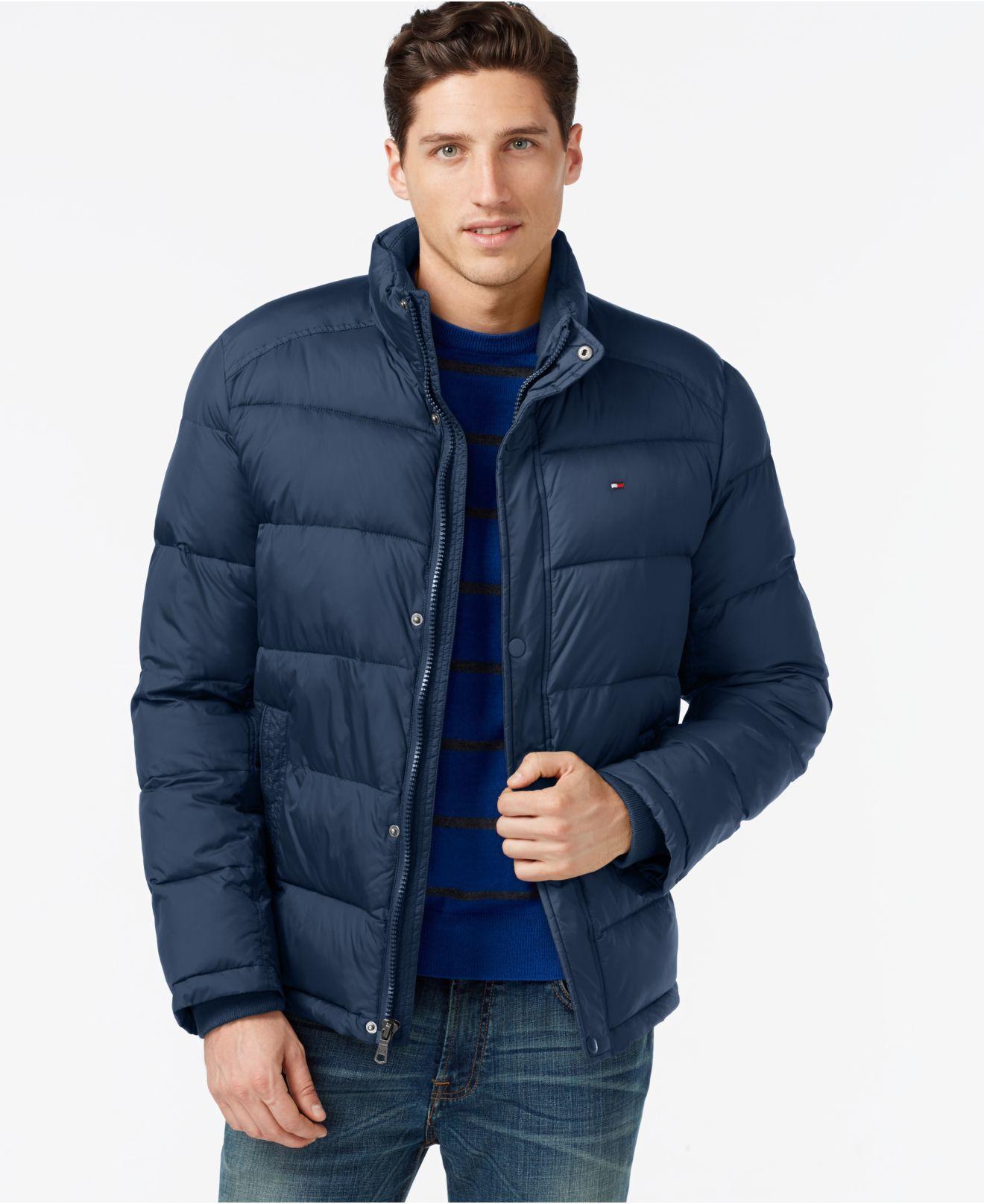 tommy hilfiger classic puffer jacket in blue for men new navy lyst. Black Bedroom Furniture Sets. Home Design Ideas