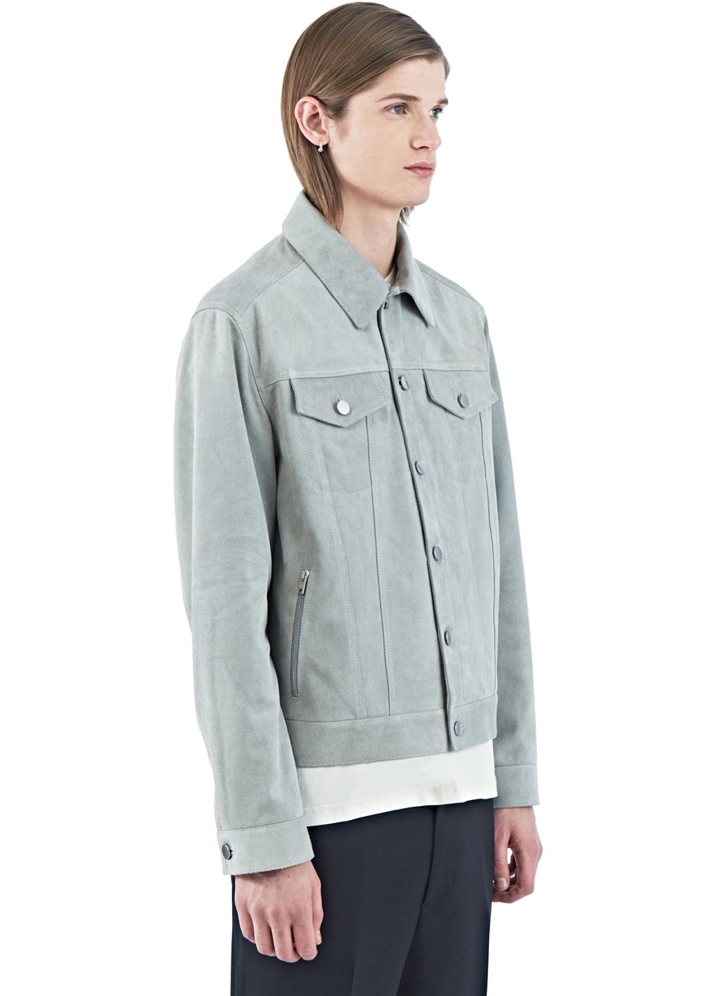 Yang Li Suede Denim-style Jacket in Blue for Men