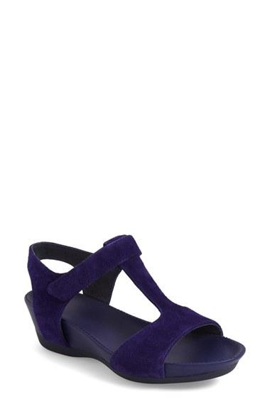 Camper Micro Suede Wedge Sandals In Purple Lyst