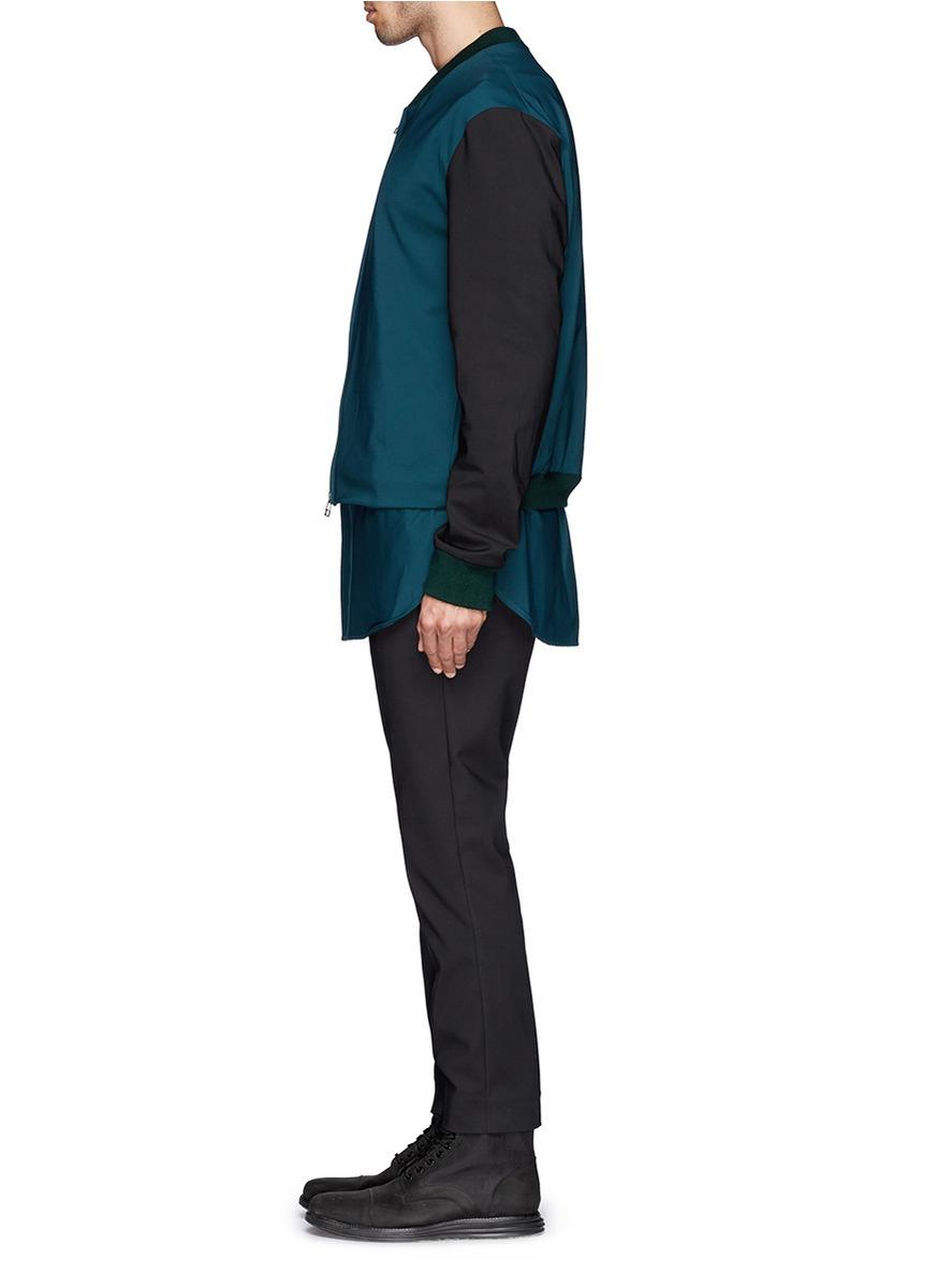 3.1 Phillip Lim Shirt Tail Bomber Jacket in Green for Men ...