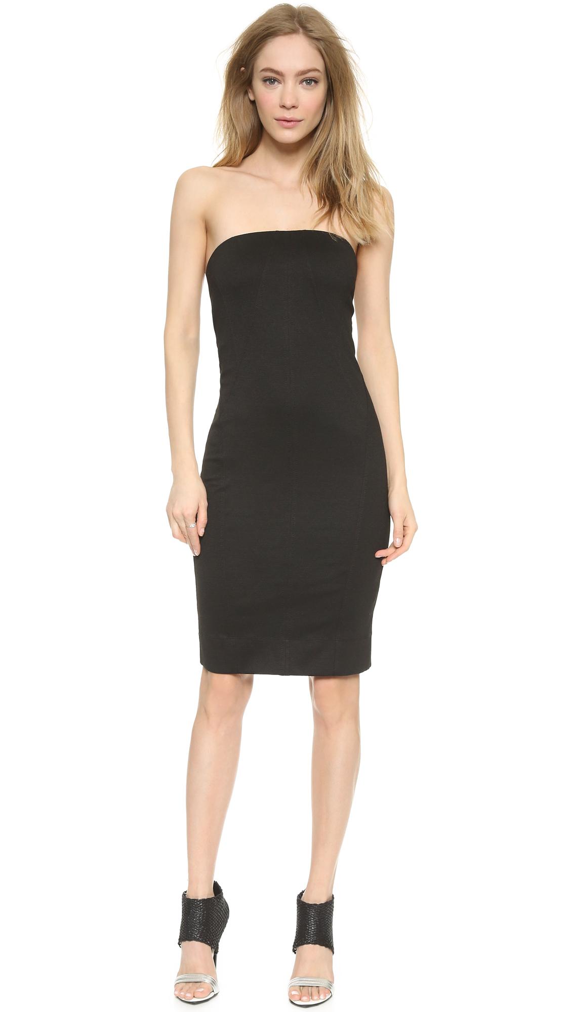 Helmut lang Strapless Dress - Black in Black | Lyst