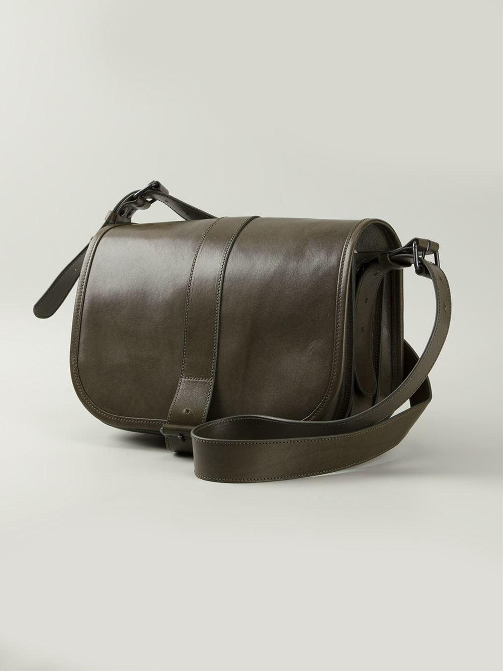 A F Vandevorst Buckle Fastening Shoulder Bag In Green Lyst