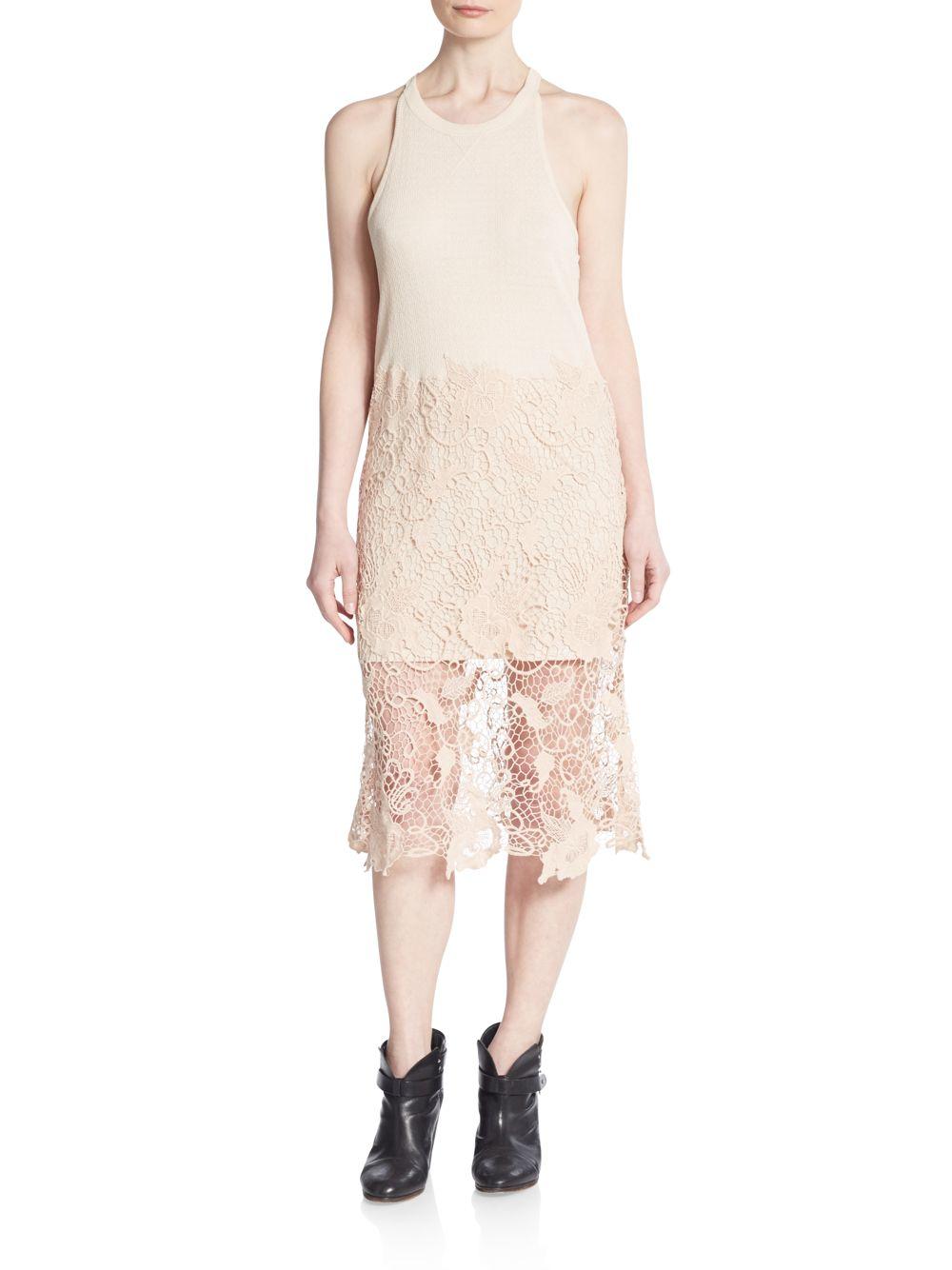 Nora Lace Overlay Tank Dress