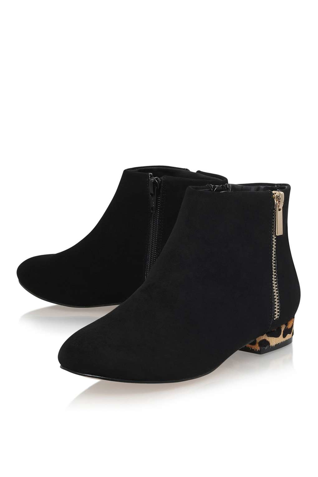 TOPSHOP Soho Ankle Boots By Miss Kg in Black