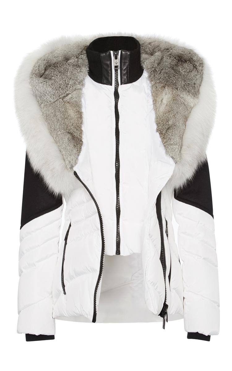 Lyst - Nicole benisti Venice Cross Fox Hooded Jacket in White
