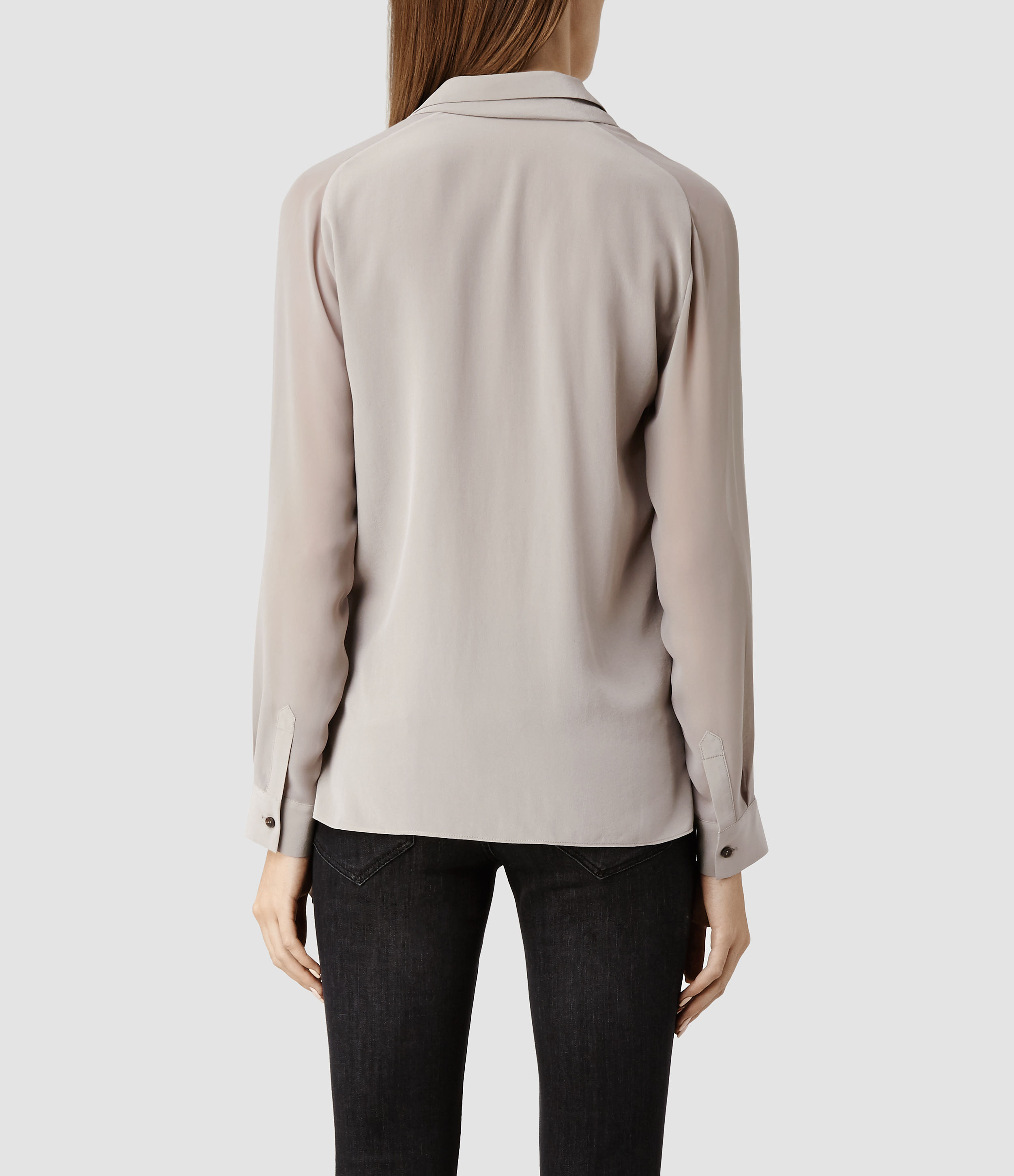 AllSaints Lucas Shirt in Taupe/Taupe (Brown)