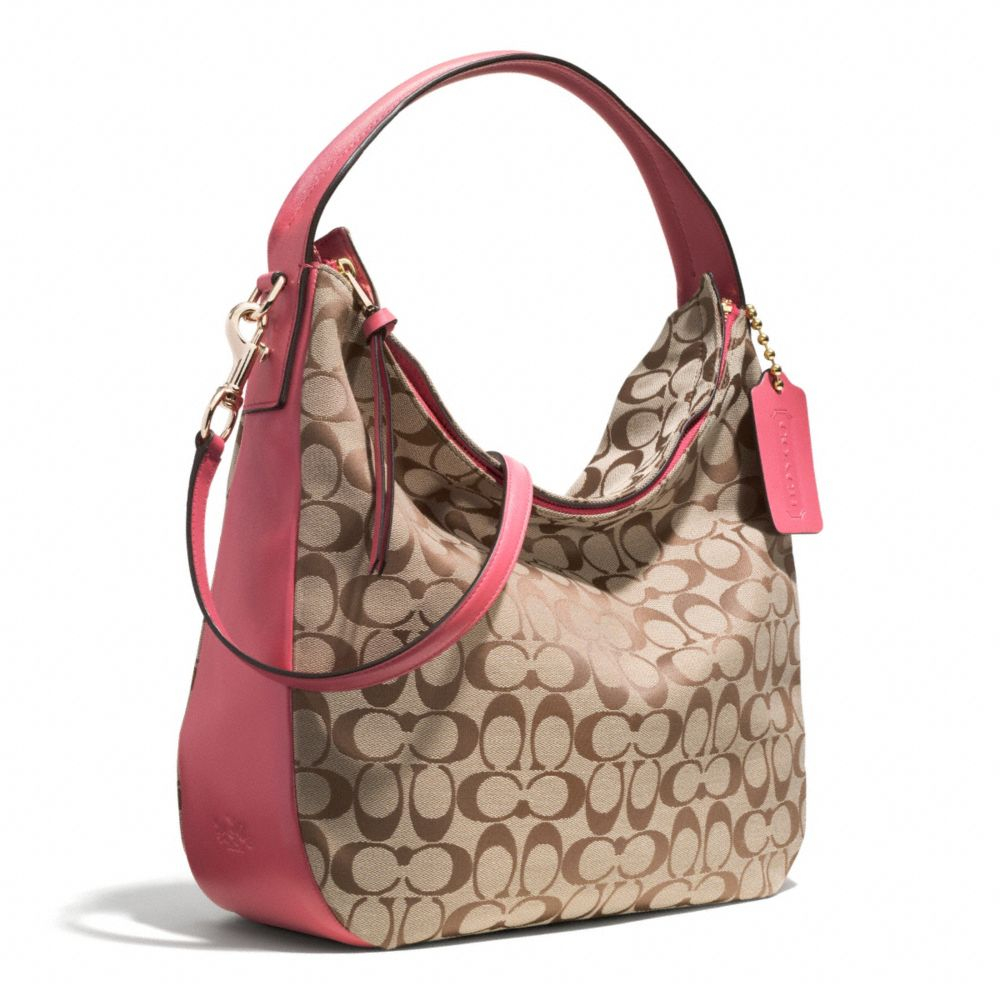 Coach Bleecker Sullivan Hobo Bag in Signature Fabric in Pink | Lyst