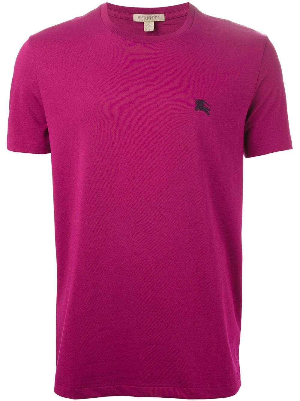Lyst burberry brit embroidered logo t shirt in pink for men for Lands end logo shirts