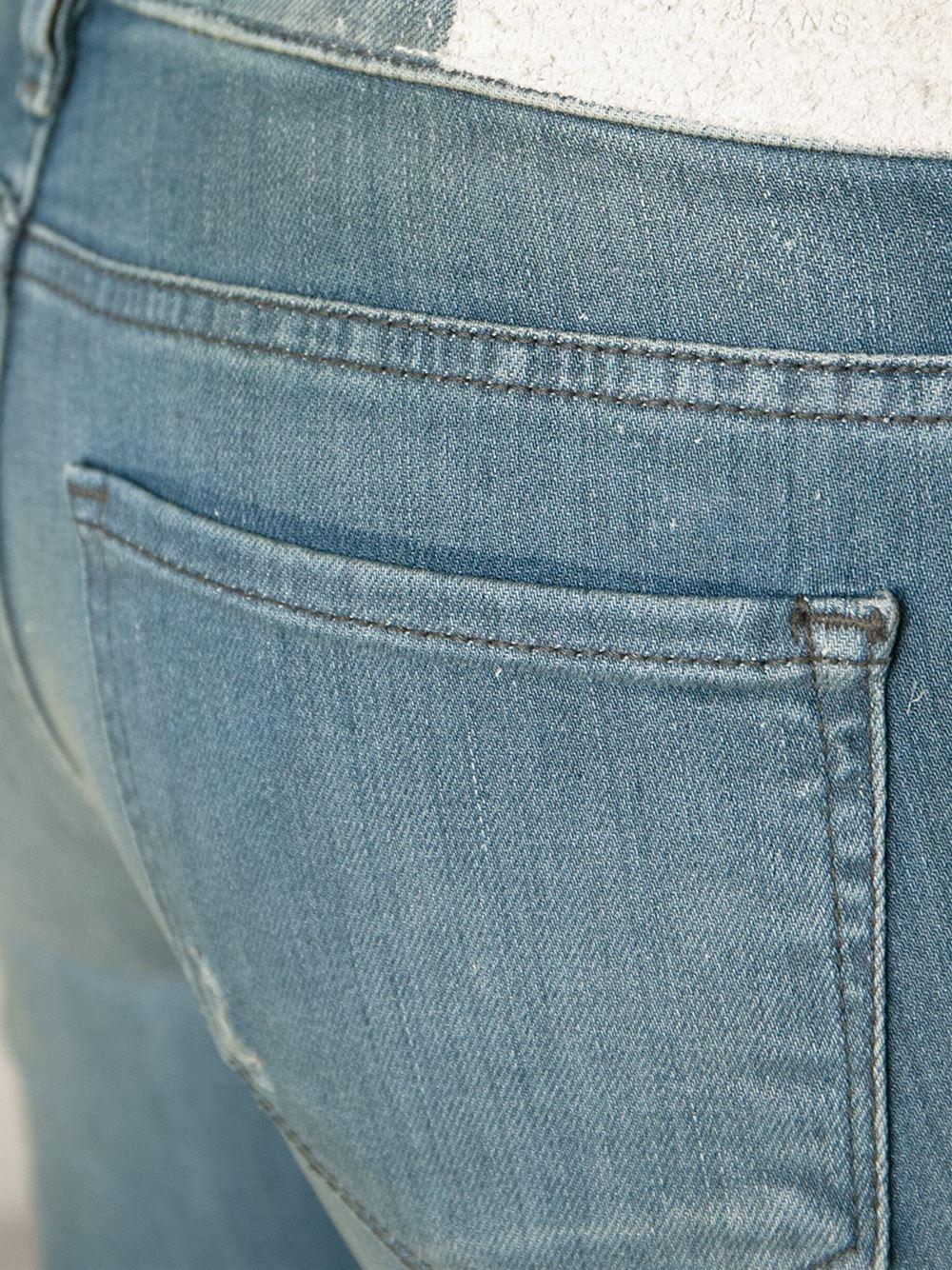 IRO Faded Skinny Jeans in Blue