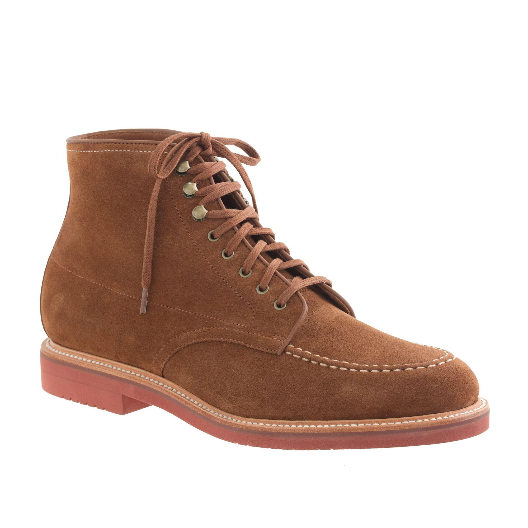 Kenton suede pacer boots in red for men acorn lyst for Jcrew com