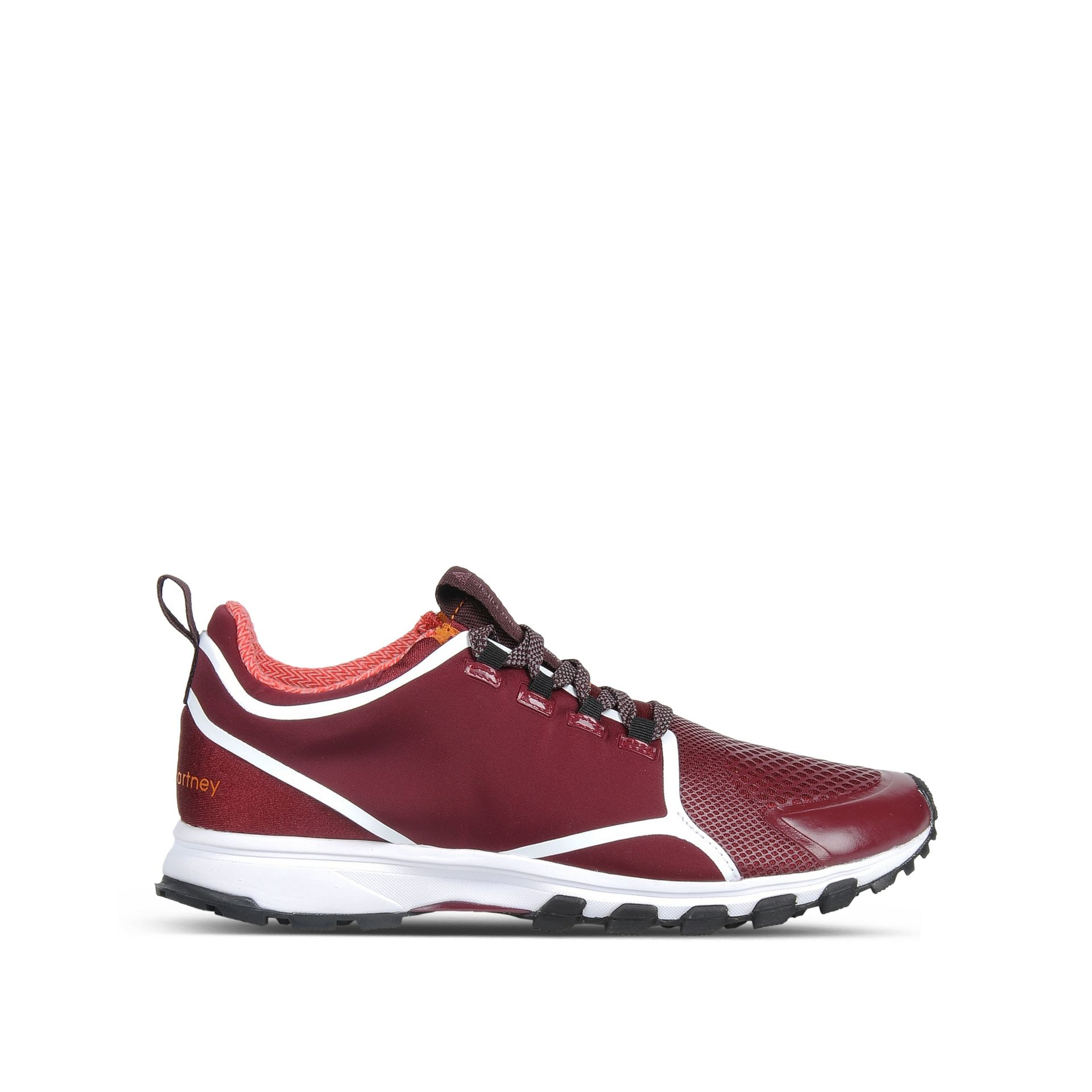 adidas by stella mccartney 39 adizero xt 39 sneakers in red wine lyst. Black Bedroom Furniture Sets. Home Design Ideas