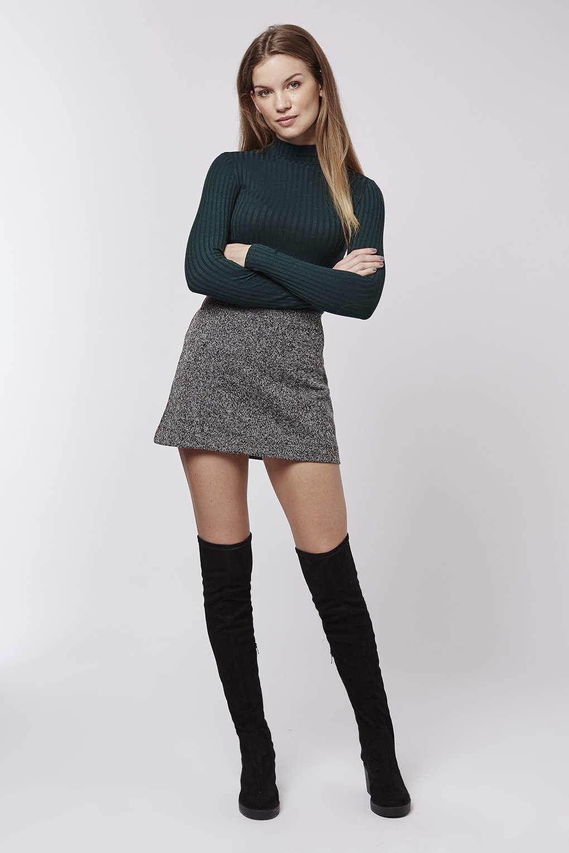 Gray A Line Skirt