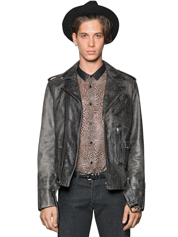 The Kooples Studded Suede Biker Jacket in Washed Black (Black) for Men