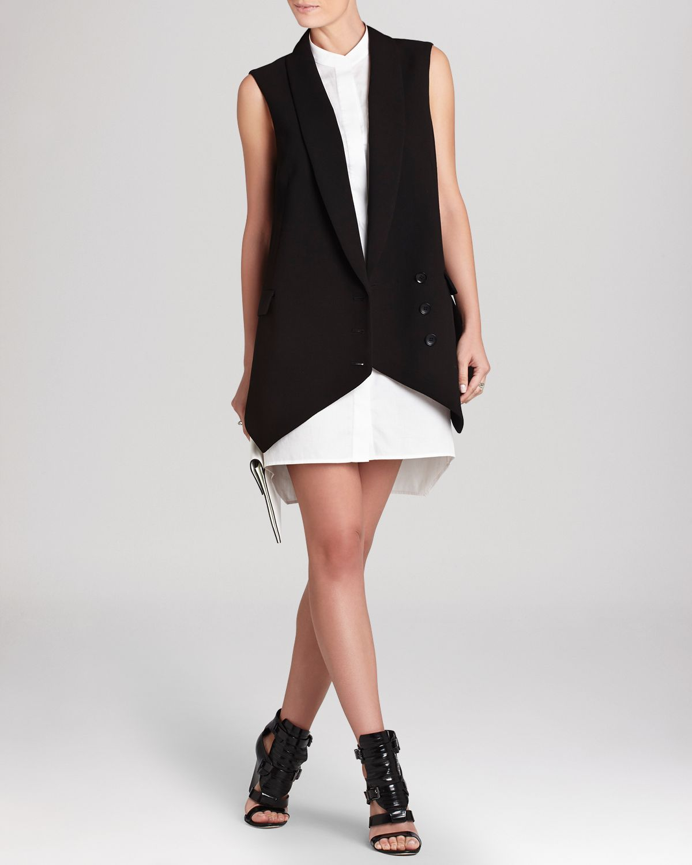 95235b00b0 Lyst - BCBGMAXAZRIA Bcbg Max Azria Shirt Dress Justyne Vest Overlay ...