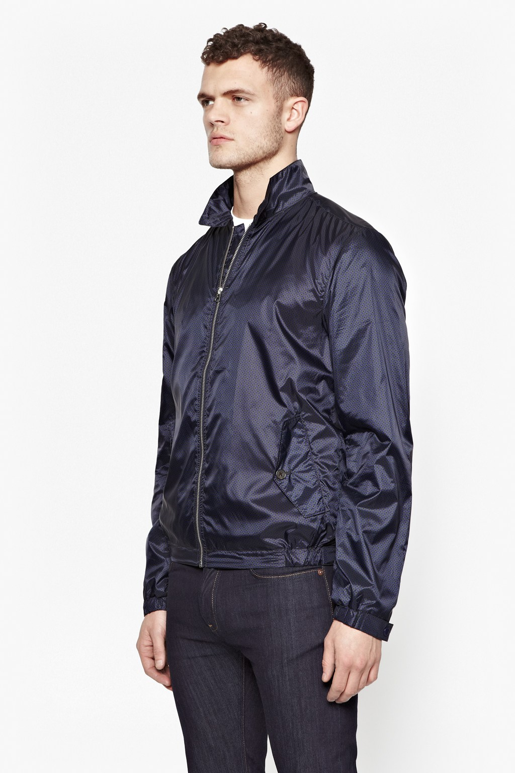 French Connection Kwandi Nylon Mod Jacket in Blue for Men