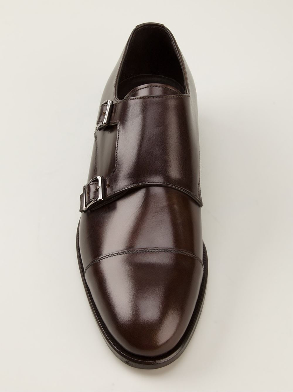 Canali Classic Two Buckles Monk Shoes