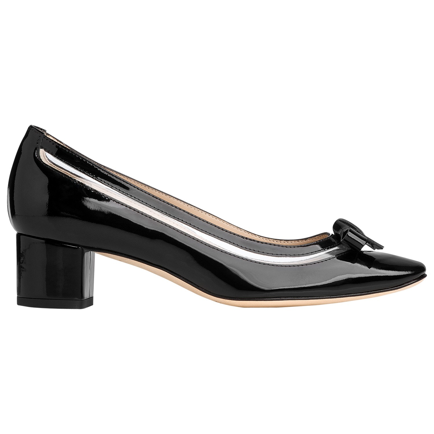 l k paisly patent block heel shoes in black lyst