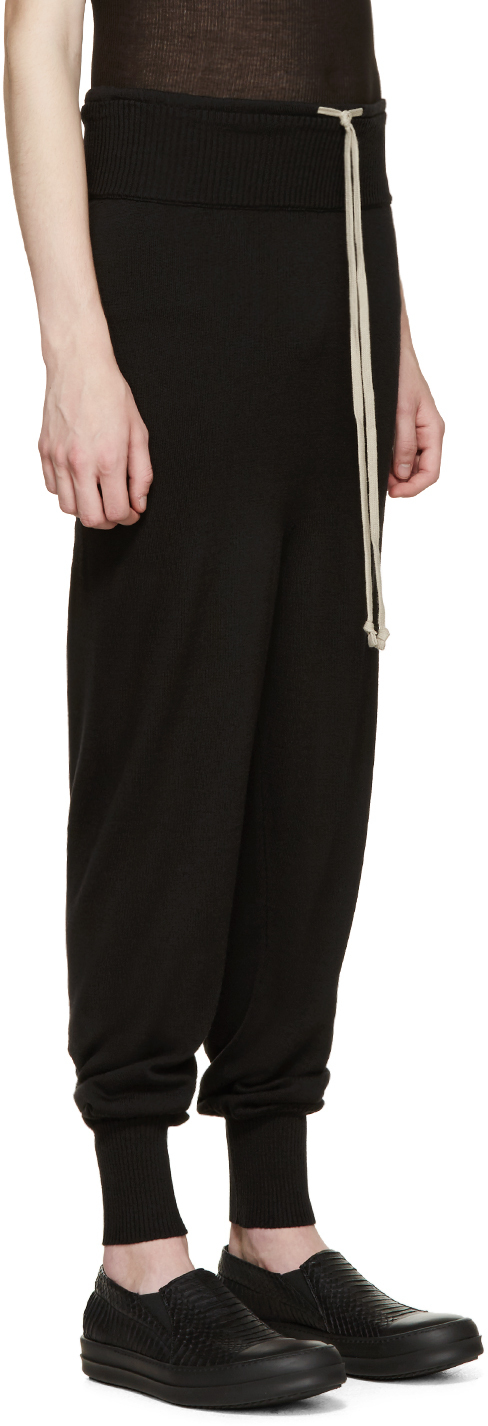 Sale Brand New Unisex Fashionable Black Wool Drawstring Long Lounge Pants Rick Owens 4glkskZo