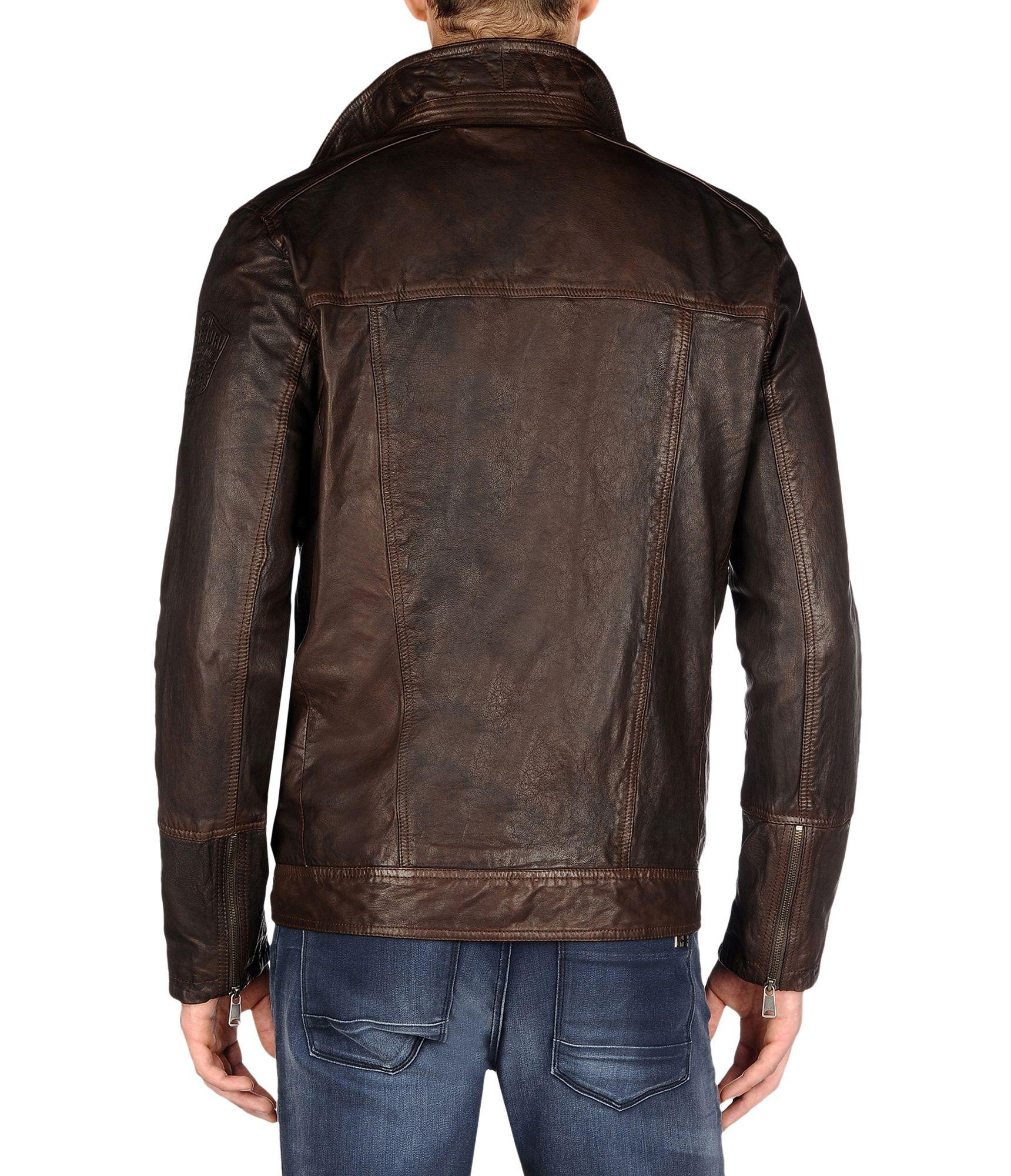 Napapijri leather jacket