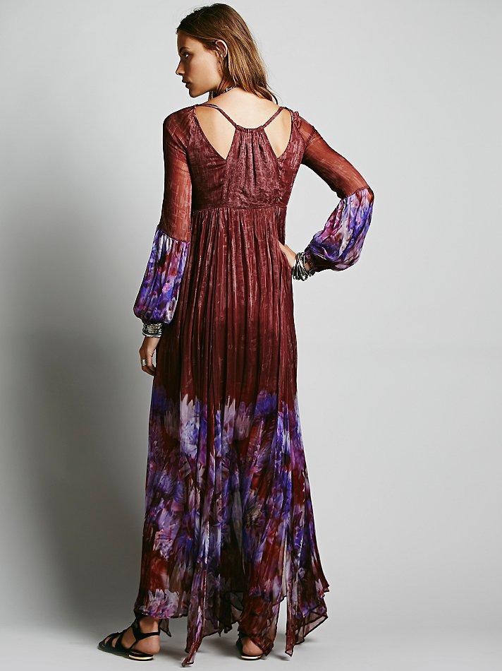 Free People Womens Dazed Dream Maxi Dress In Merlot Red