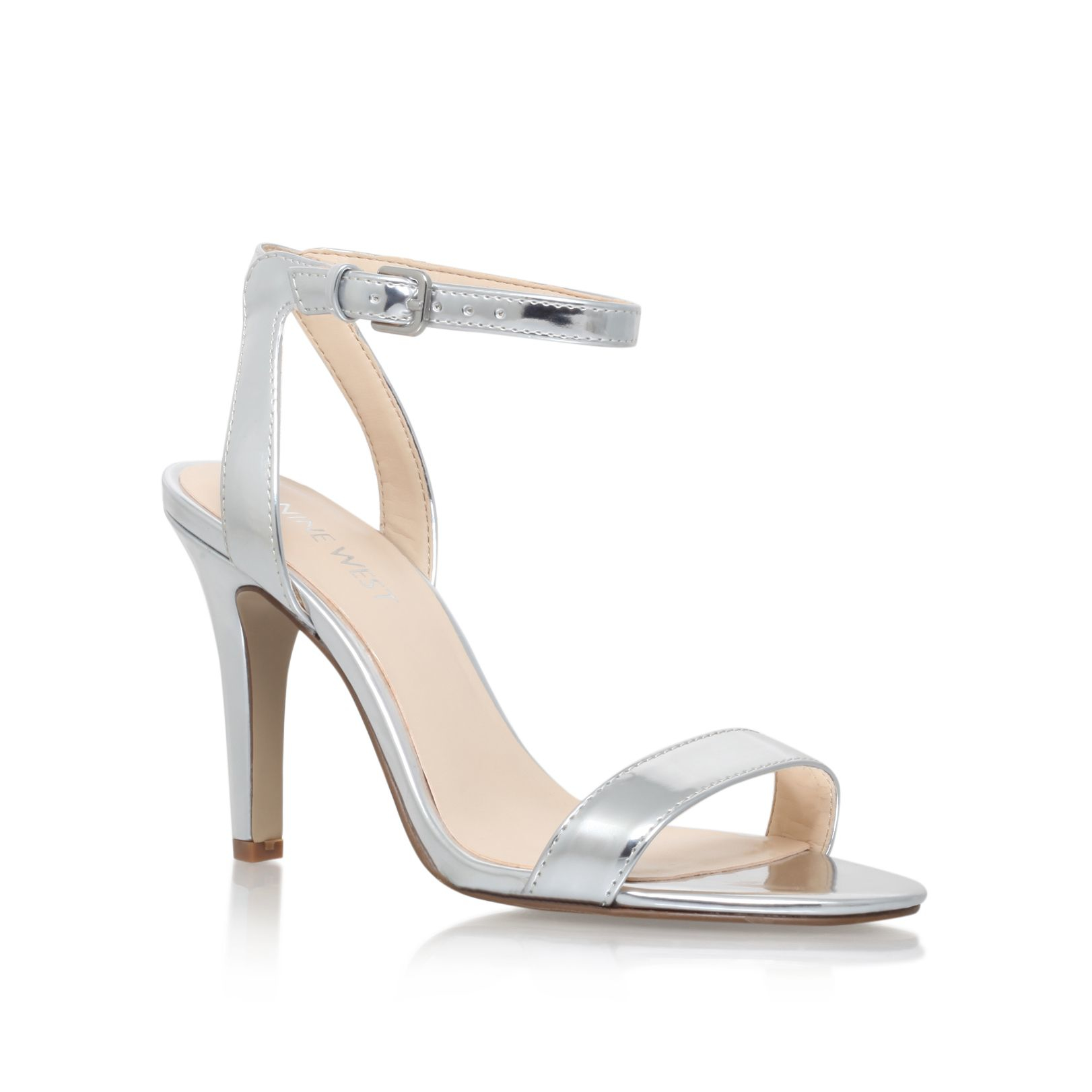 Aniston Metallic Mid Heel Sandal By Nine West ob6ynTls