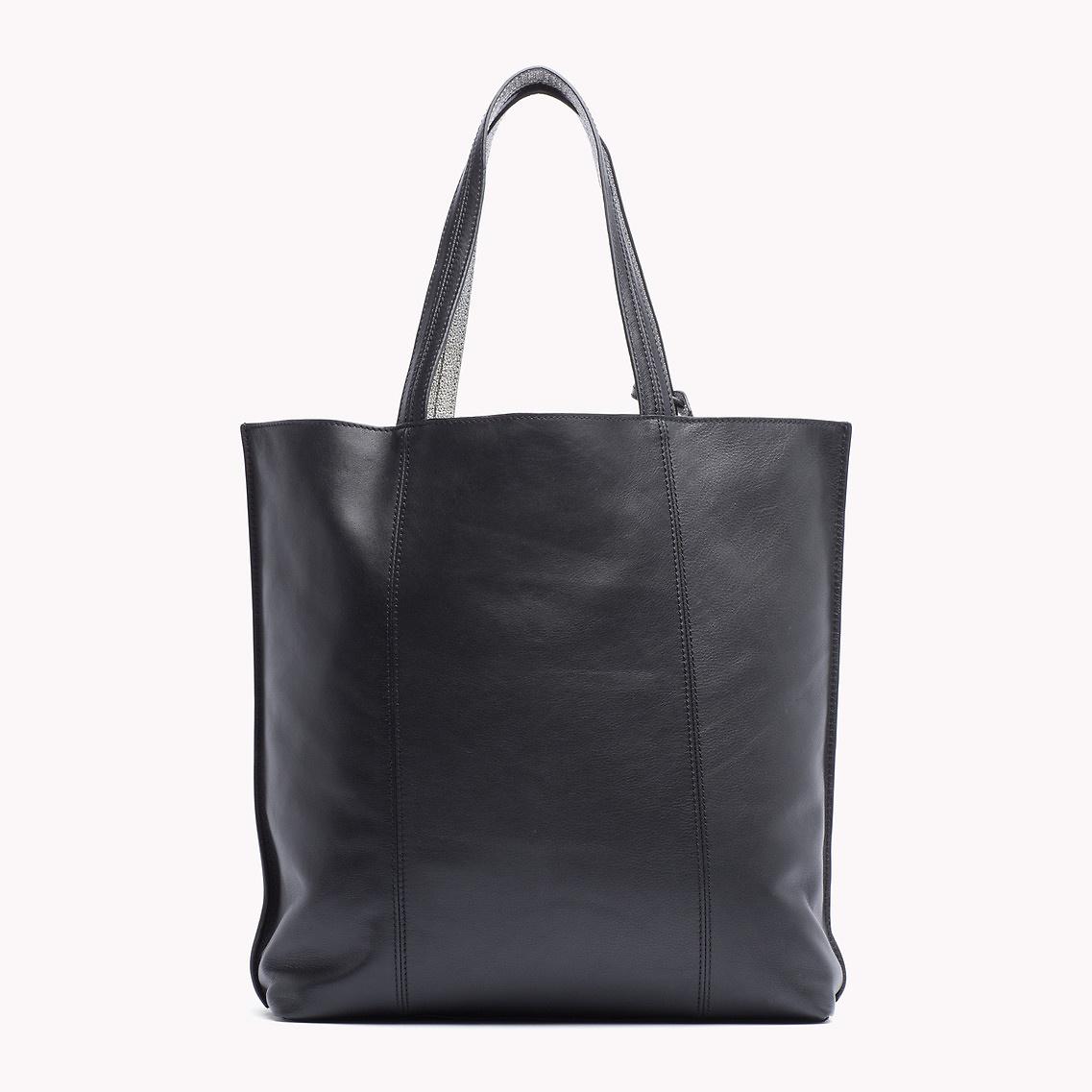 Tommy hilfiger Pasadena Tote Bag in Black (black/ silver ...