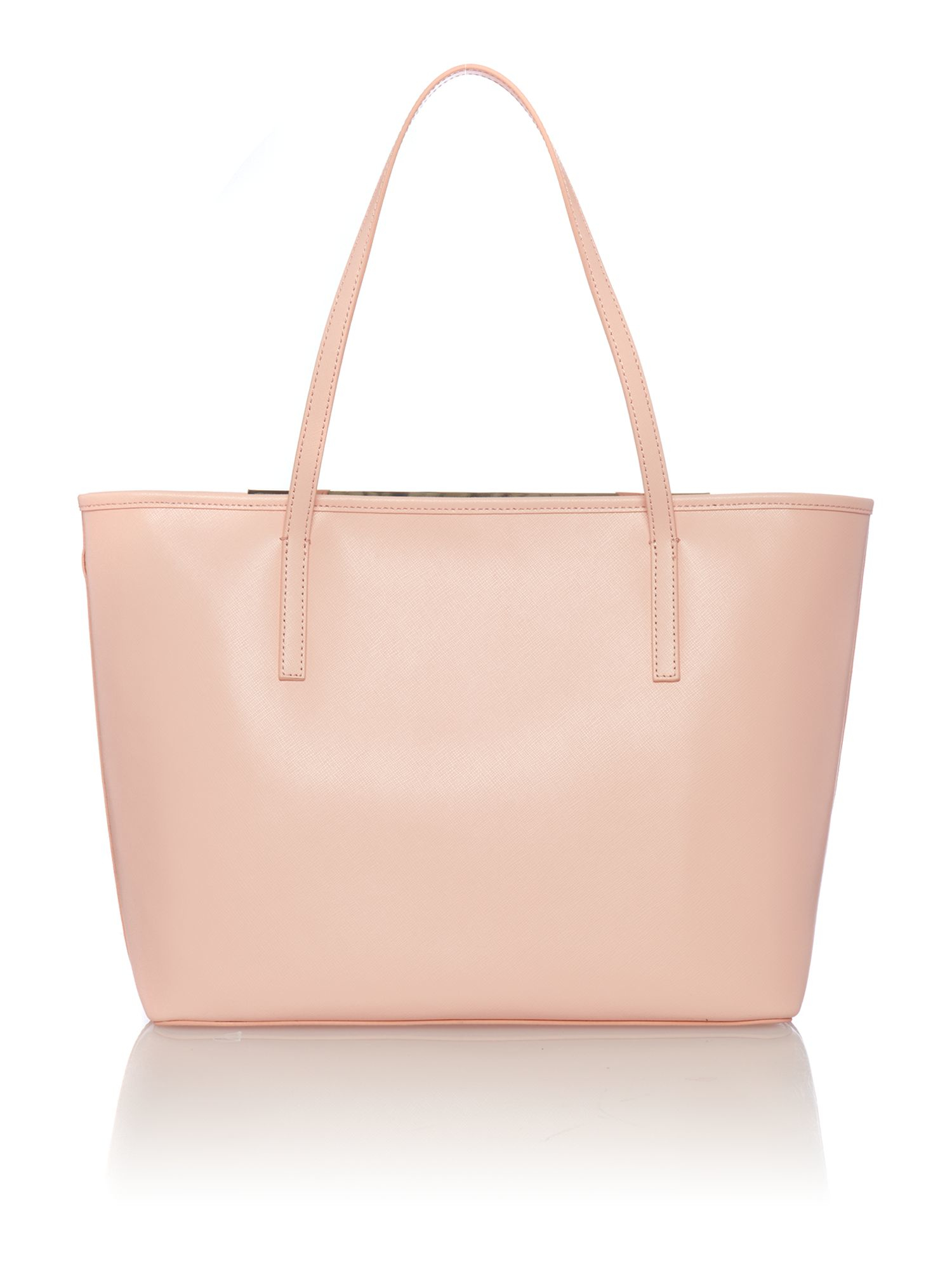 ted baker celiaa light pink saffiano large tote bag in pink lyst. Black Bedroom Furniture Sets. Home Design Ideas