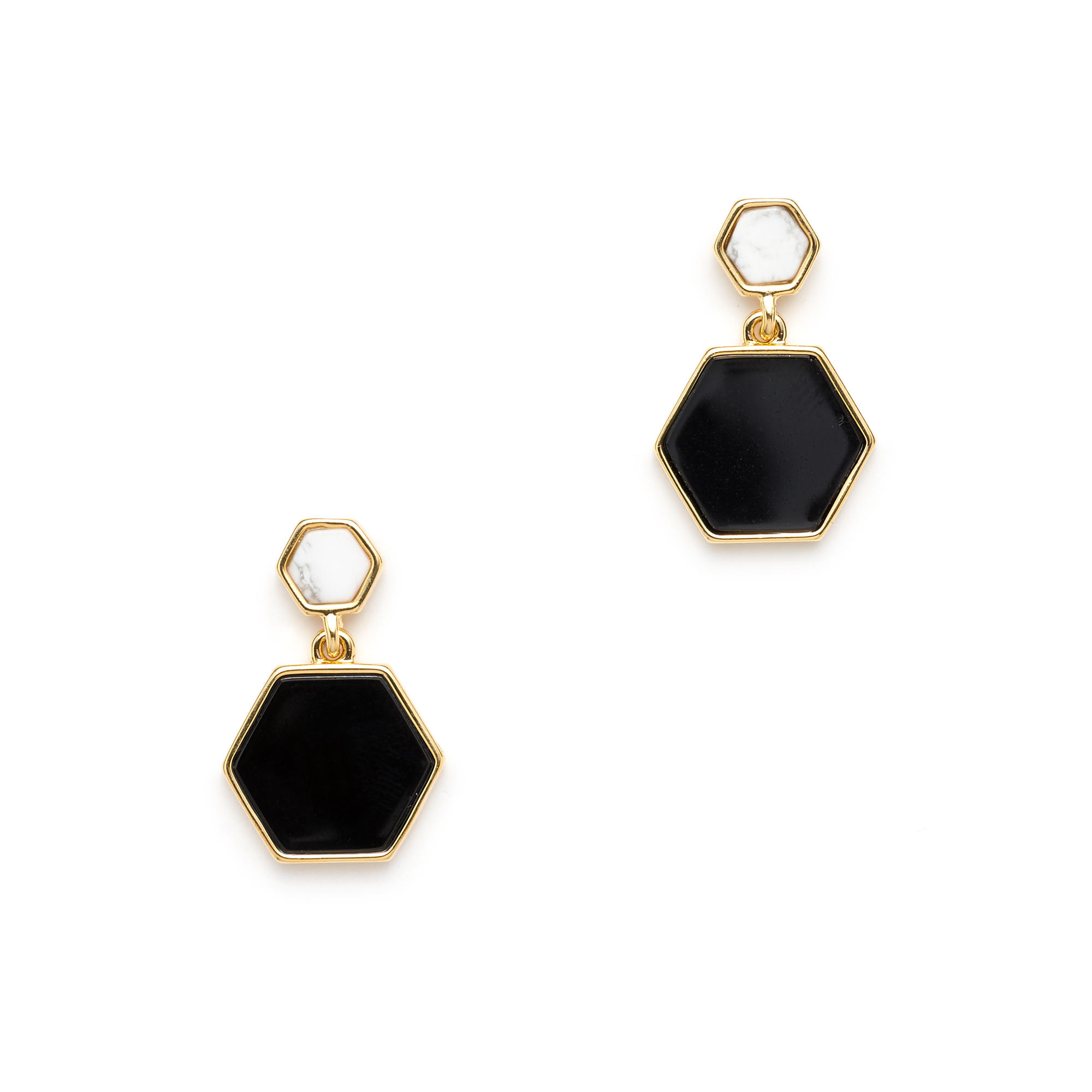 make image collectives hexagon metal earrings products hoop