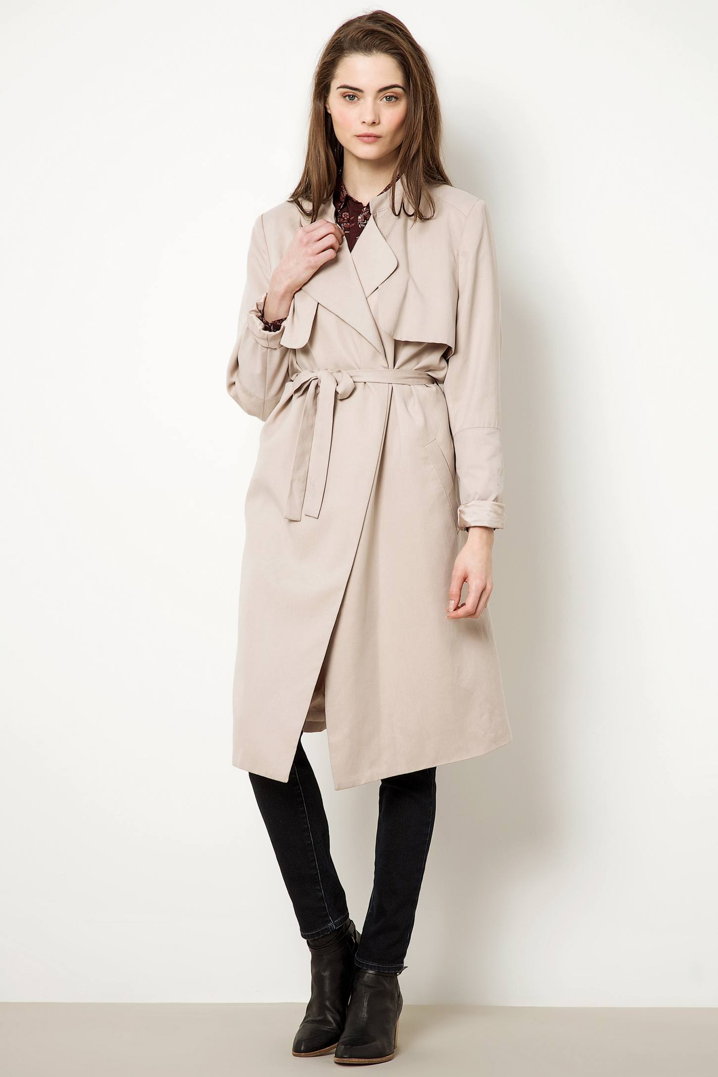 anthropologie selected femme belle trench coat in natural. Black Bedroom Furniture Sets. Home Design Ideas