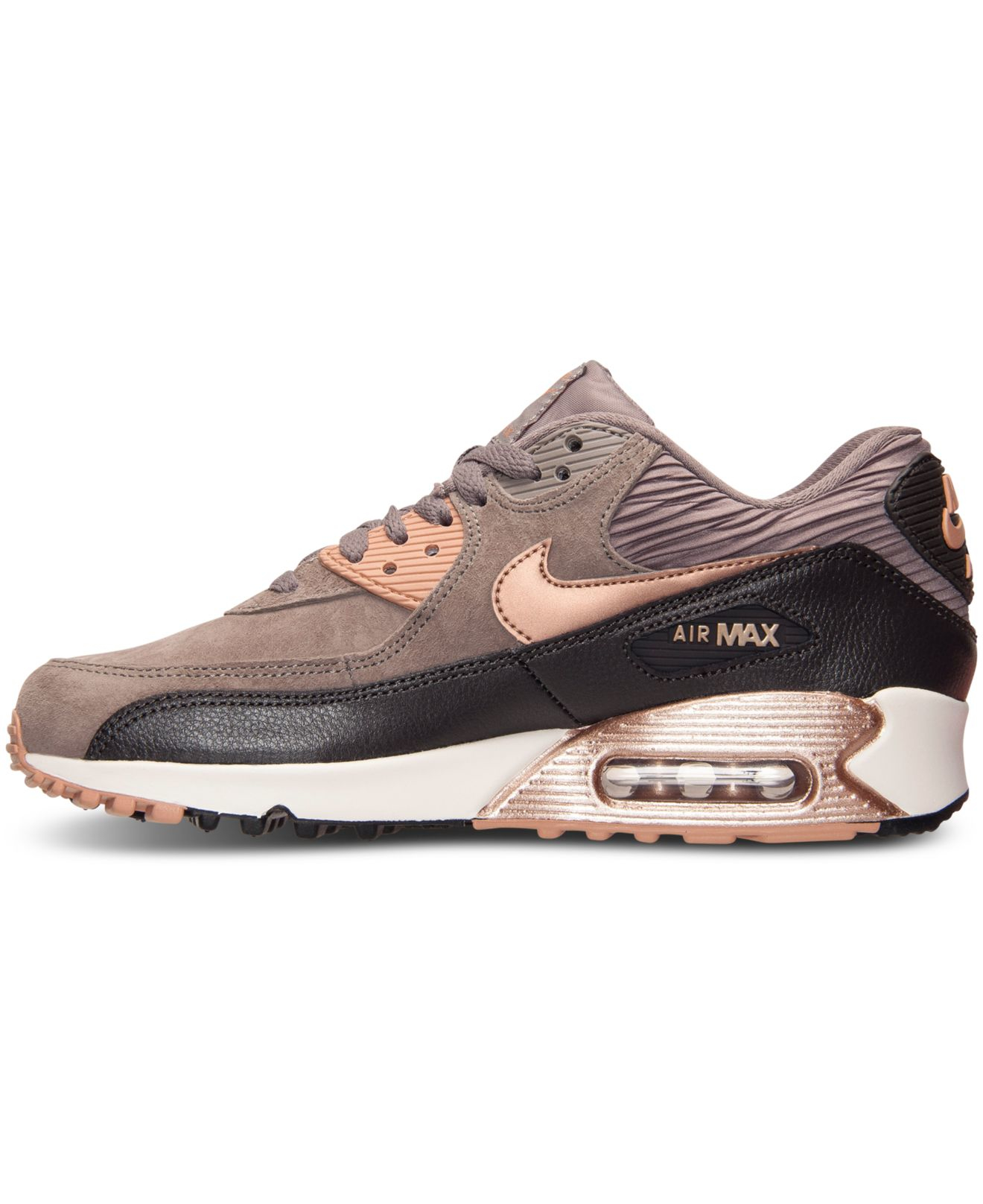 Lyst - Nike Women s Air Max 90 Leather Running Sneakers From Finish ... a92e6bca1
