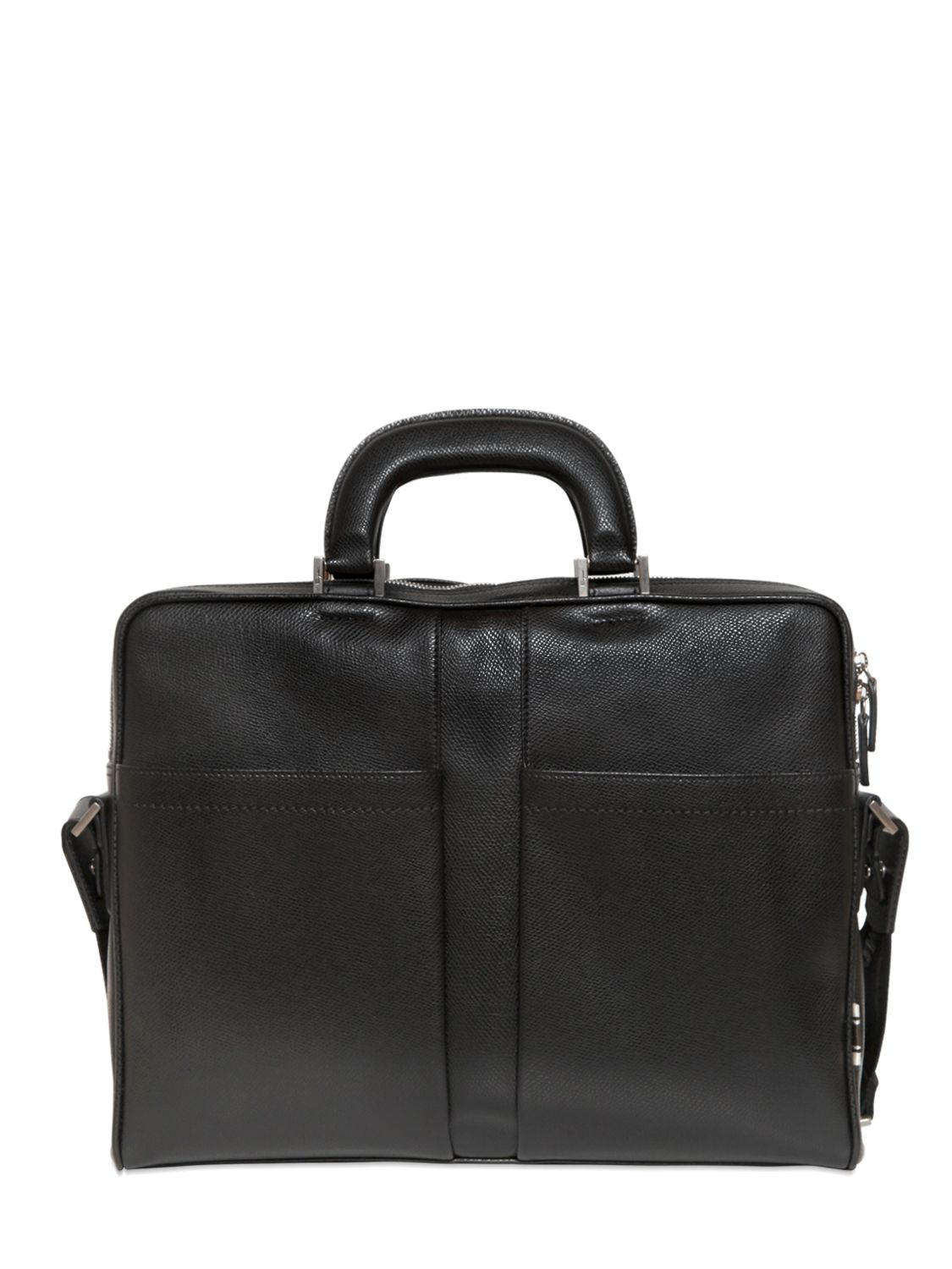 Ferragamo - Black Los Angeles Grained Leather Briefcase for Men - Lyst