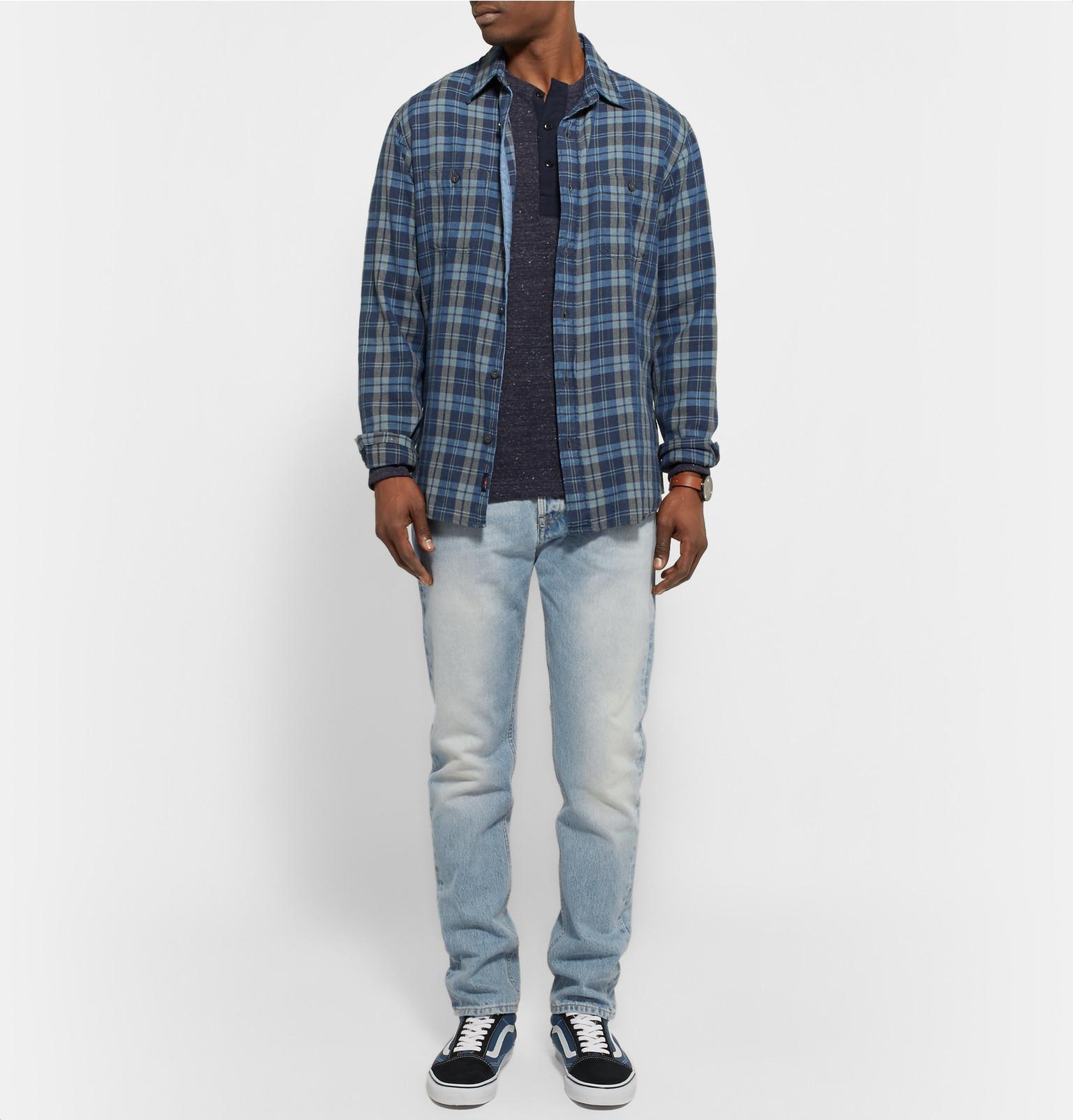 NN07 Five 1780 Tapered Washed-denim Jeans in Light Denim (Blue) for Men