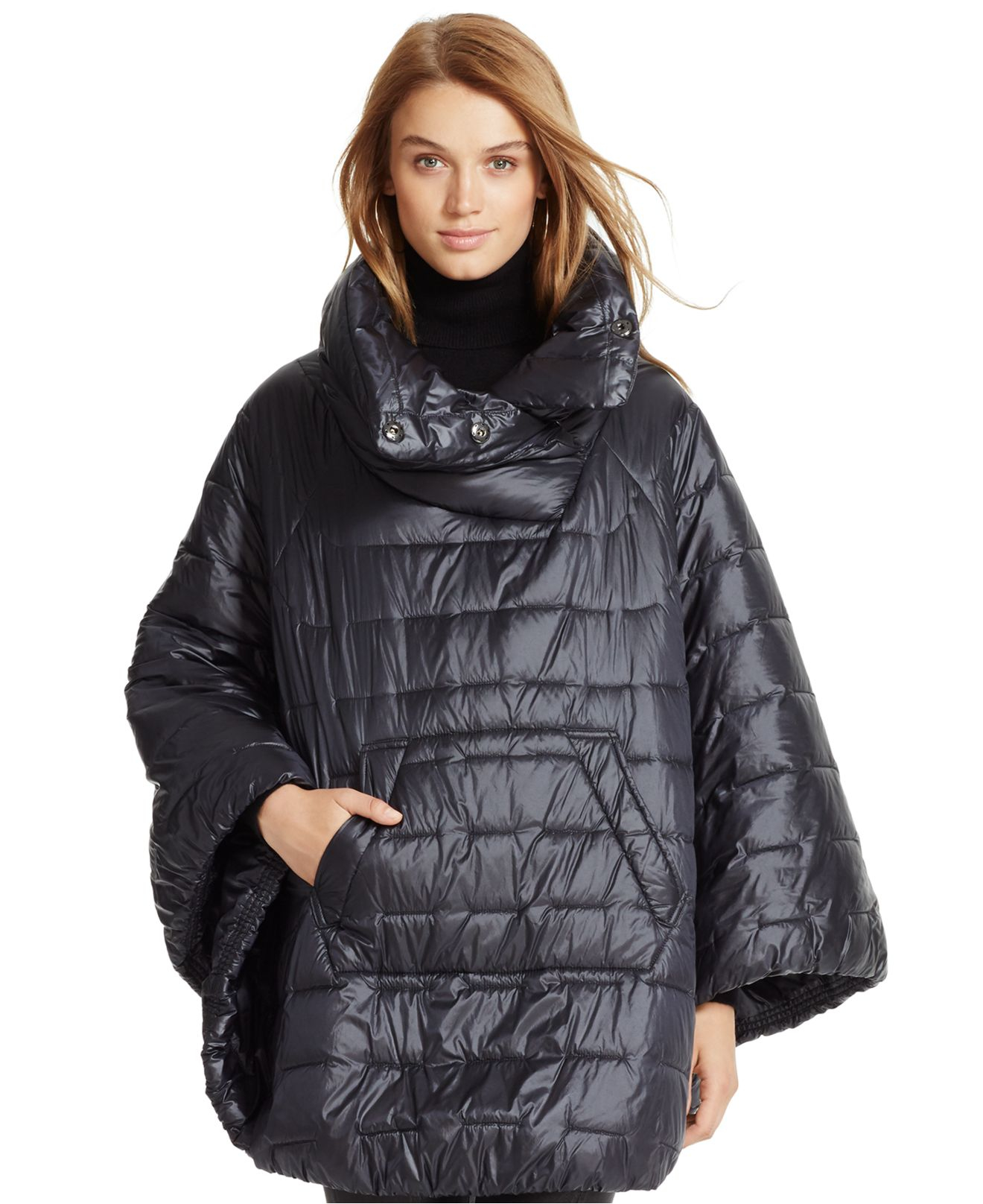 Polo Ralph Lauren Down Water Resistant Poncho In Black Lyst
