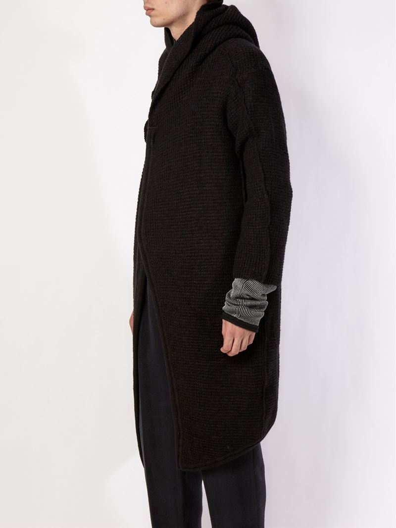 Individual sentiments Hooded Long Sleeve Coat in Black for Men | Lyst