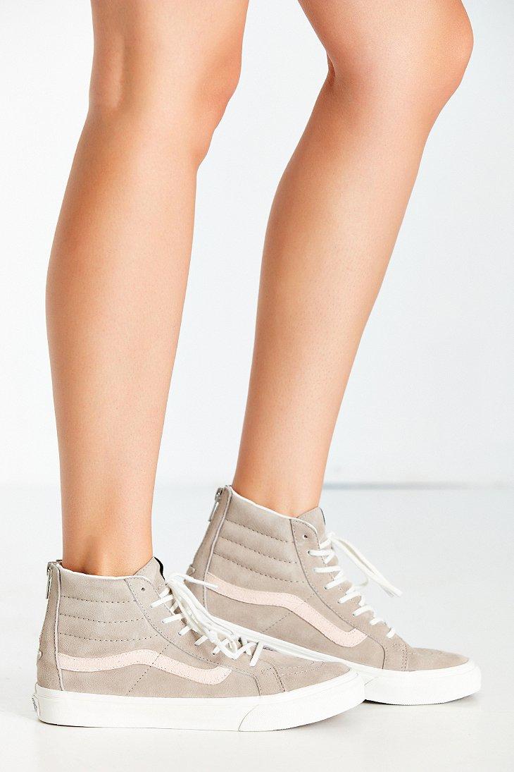 84390c76e6 Lyst - Vans Sk8-hi Zip Croc Embossed Sneaker in Gray