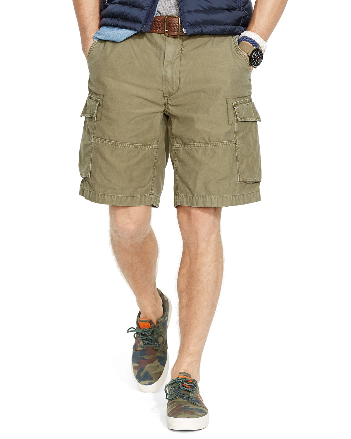 a88e9ccf9b ... spain inexpensive lyst ralph lauren polo commander cargo shorts classic  fit in 7520c 070a9 7690c a771c