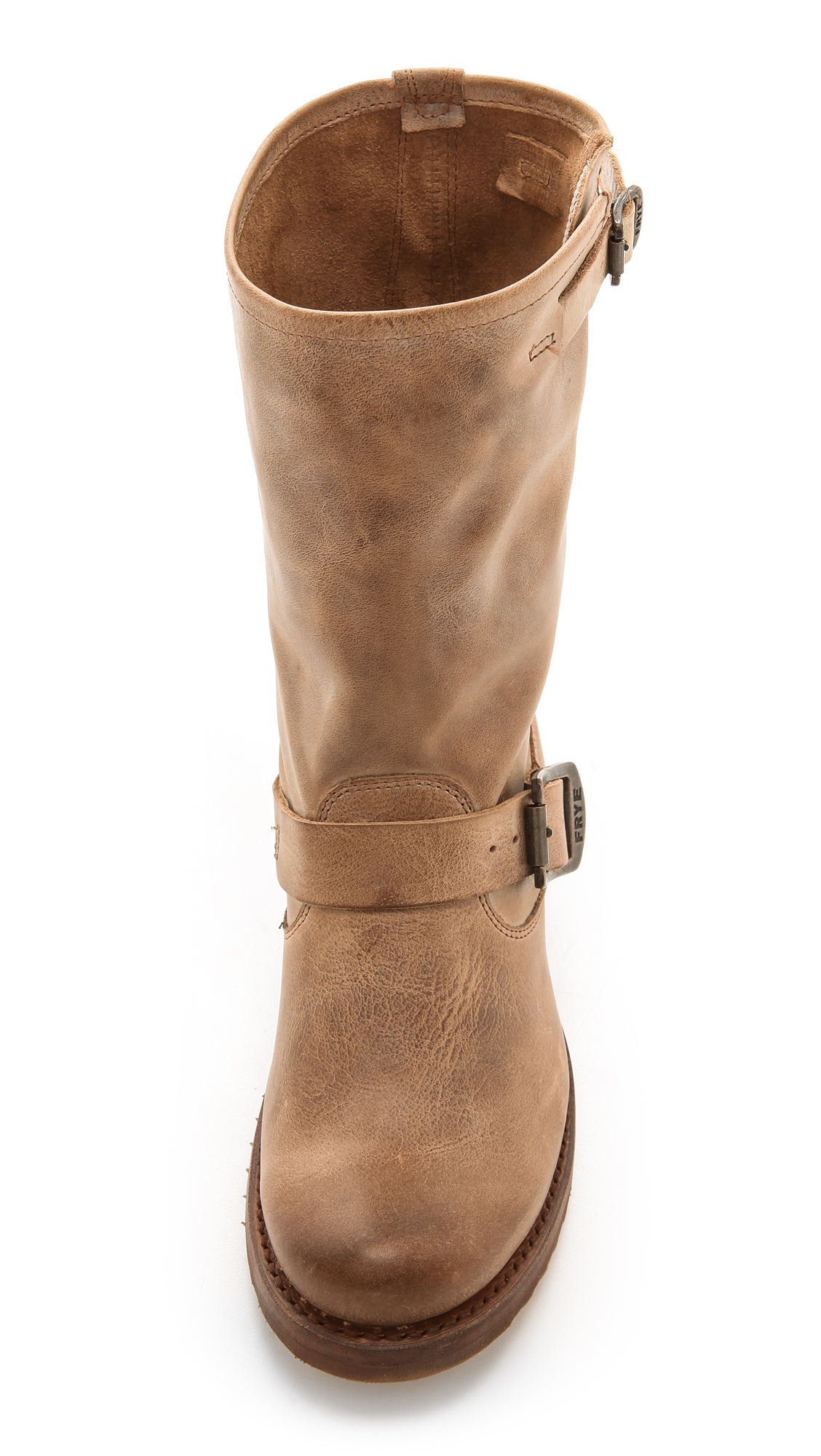 Frye Veronica Short Boots Tan In Brown Lyst