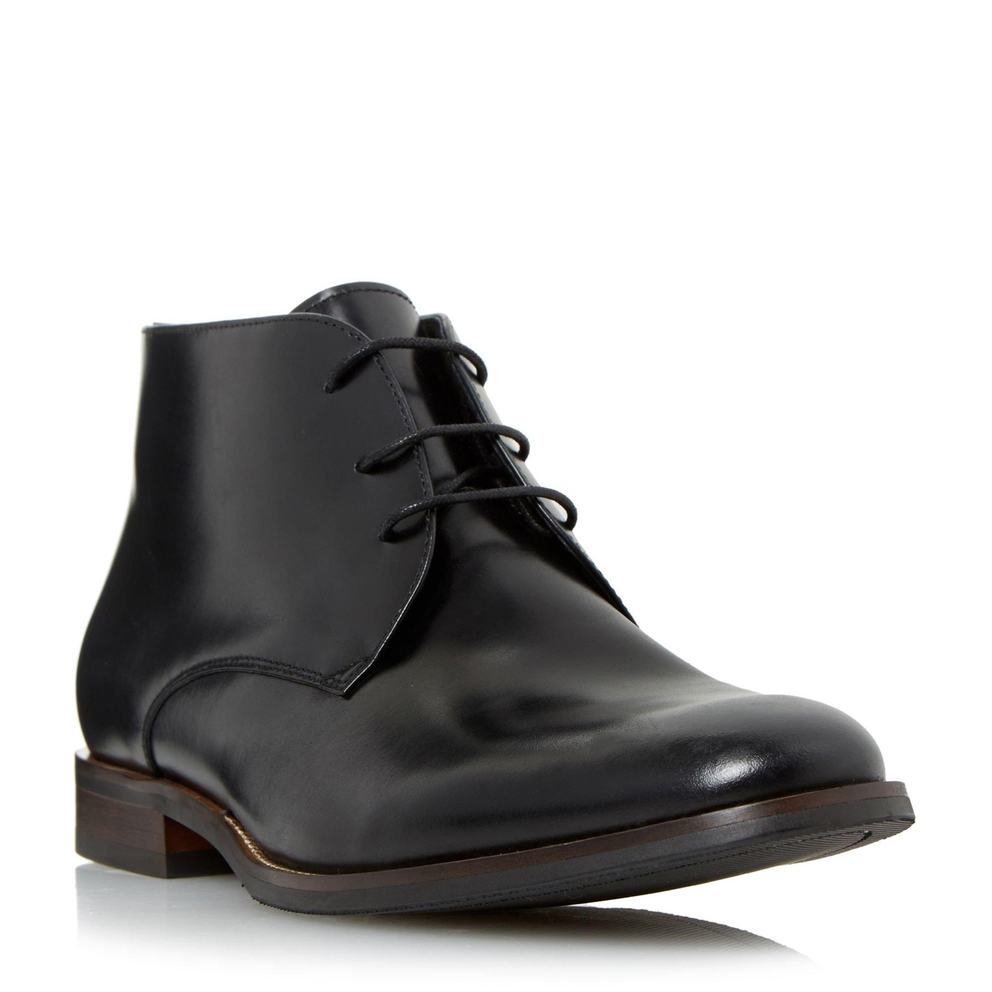 dune moreton formal chukka boots in black for lyst