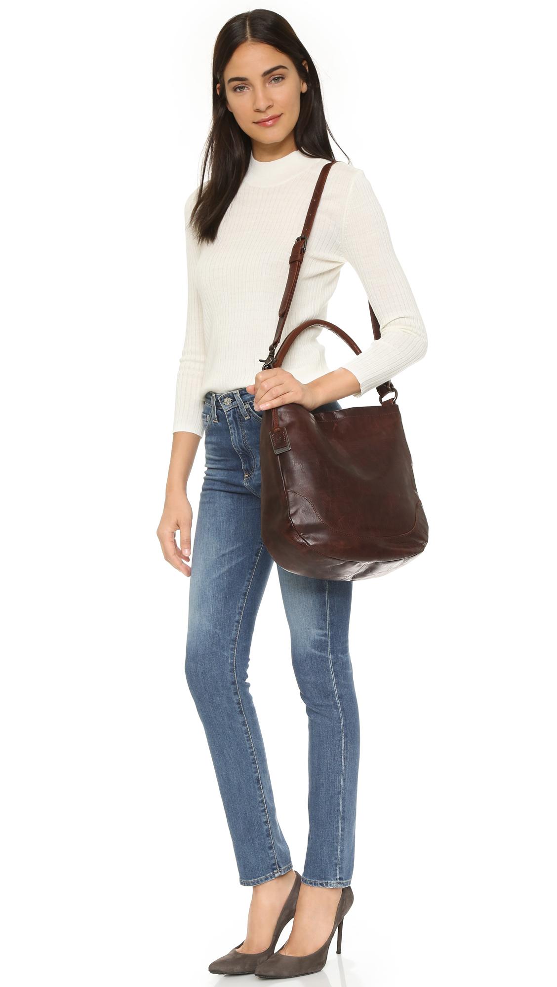 Frye Melissa Hobo Bag - Dark Brown in Brown | Lyst