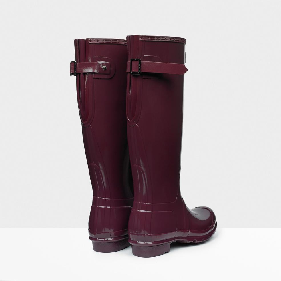 hunter original adjustable gloss rain boots in purple for men lyst. Black Bedroom Furniture Sets. Home Design Ideas
