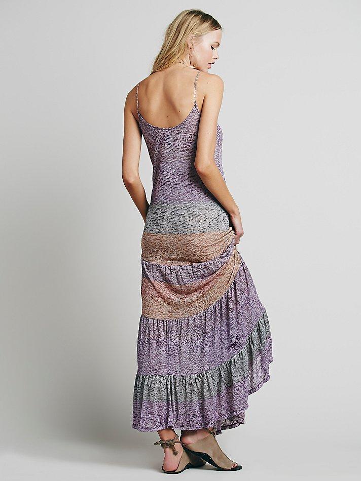 Free People Fp Beach Womens Lotus Maxi Dress In Purple