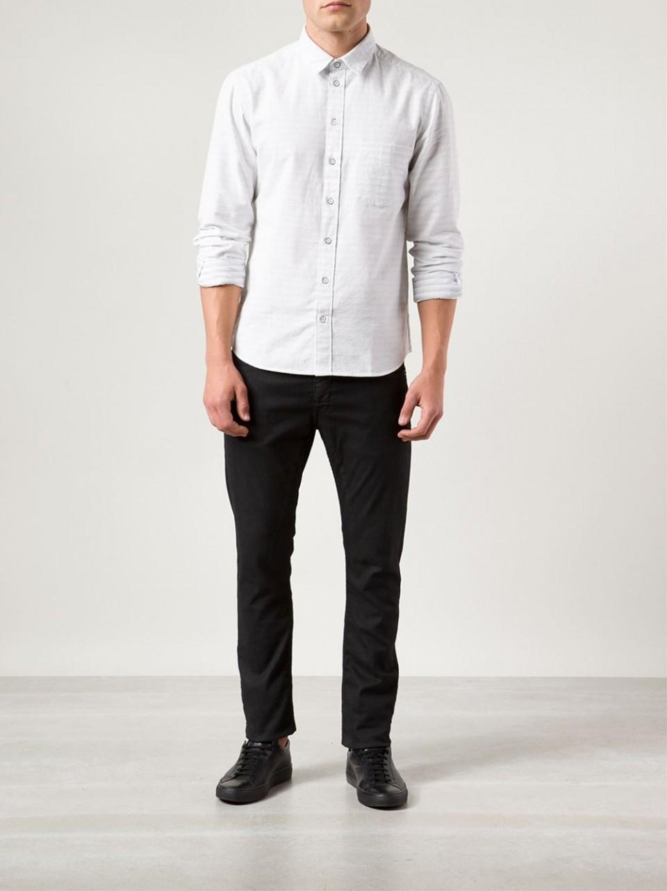 Rag bone dune shirt in white for men lyst for Rag bone shirt