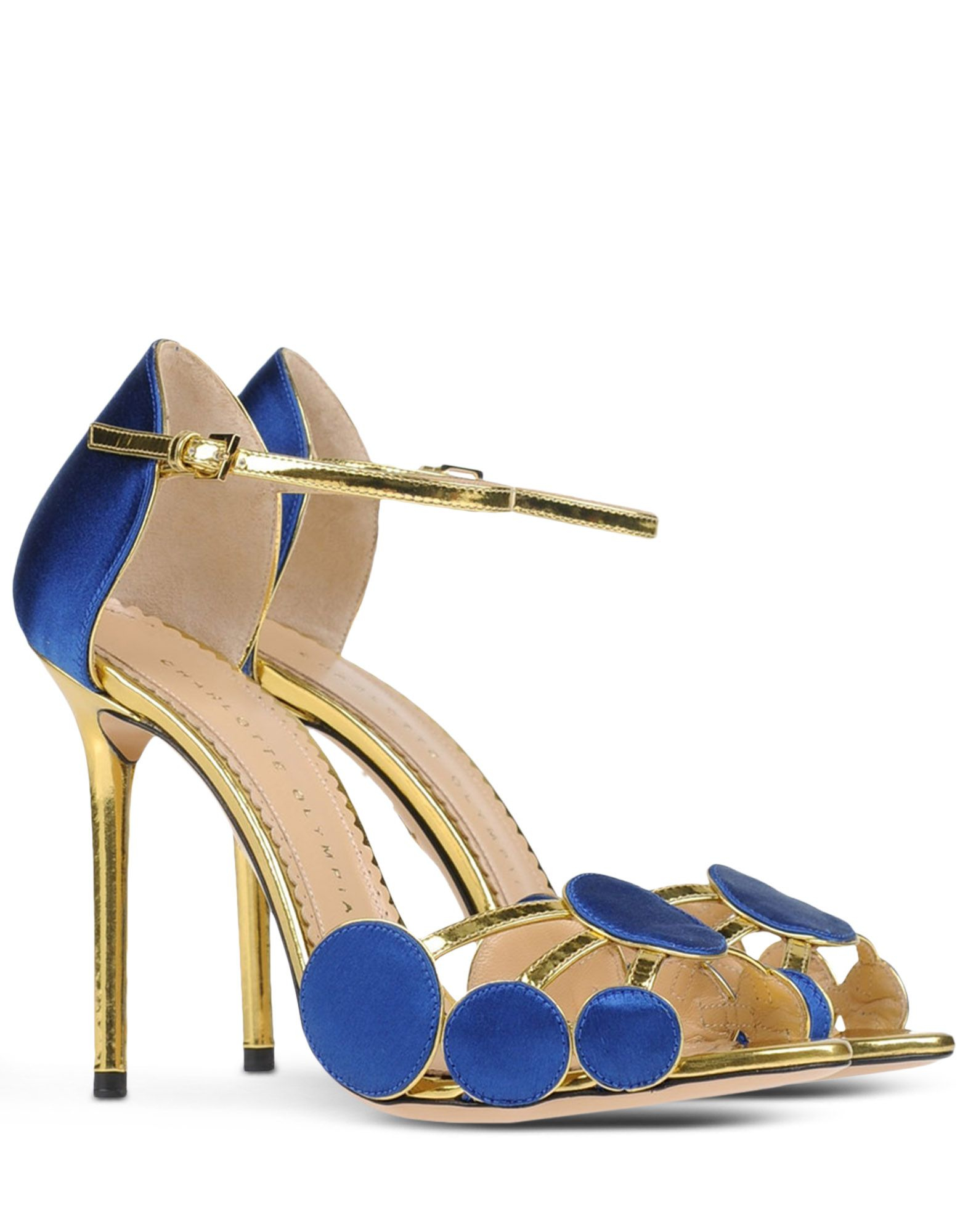 charlotte olympia sandals in gold lyst. Black Bedroom Furniture Sets. Home Design Ideas