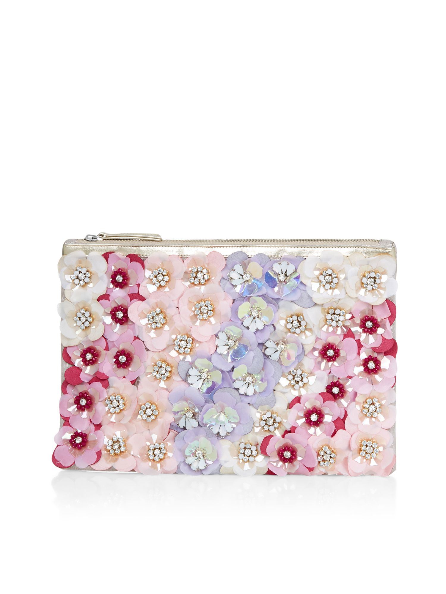 accessorize felicity floral clutch bag lyst